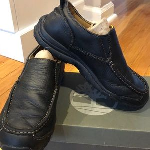 Boys black slip in Timberland shoes